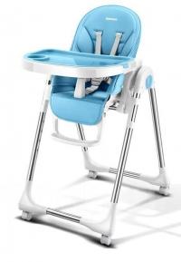 """Стульчик для кормления """"Luxmom 580"""" (Baoneo) экокожа голубой"""