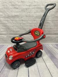 Машина-толокар с родительской ручкой (арт. 8559), красный