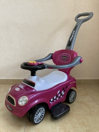 Машина-толокар с родительской ручкой (арт. 8559), фиолетовый