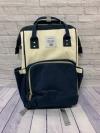 Сумка-рюкзак для мам, белый/синий