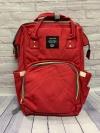 Сумка-рюкзак для мам, красный
