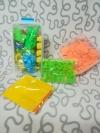 Кинетический песок, 2 кг., формочки, песочница, оранжевый