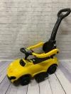 Машина-толокар с родительской ручкой, желтый
