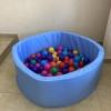 Сухой бассейн, голубой оксфорд