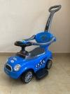 Машина-толокар с родительской ручкой, синий (арт. 8559)
