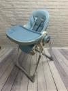 """Стульчик для кормления """"Luxmom 580"""" (Baoneo)  экокожа голубой/золото"""
