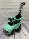 Машина-толокар с родительской ручкой, зеленый (арт. 6699)