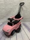 Машина-толокар с родительской ручкой, розовый (арт. 6699)