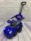 Машина-толокар с родительской ручкой, синий (арт. 168)