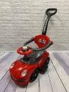 Машина-толокар с родительской ручкой, красный (арт. 168)