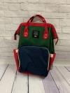 Сумка-рюкзак для мам, зеленый/красный/синий