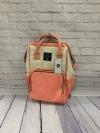 Сумка-рюкзак для мам, бело/розовый