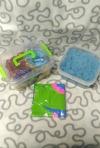 Кинетический песок, 2 кг., формочки, песочница, голубой