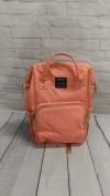 Сумка-рюкзак для мам, персиковая