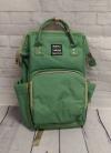 Сумка-рюкзак для мам, зеленая