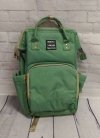 Сумка-рюкзак для мам, зеленый USB