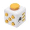 """Игрушка-антистресс """"Fidget Cube"""" (фиджет куб) белый/желтый"""