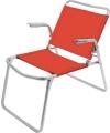 Кресло-шезлонг складное, гранатовый (арт. К1)