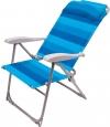 Кресло-шезлонг складное, синее (арт. К2)